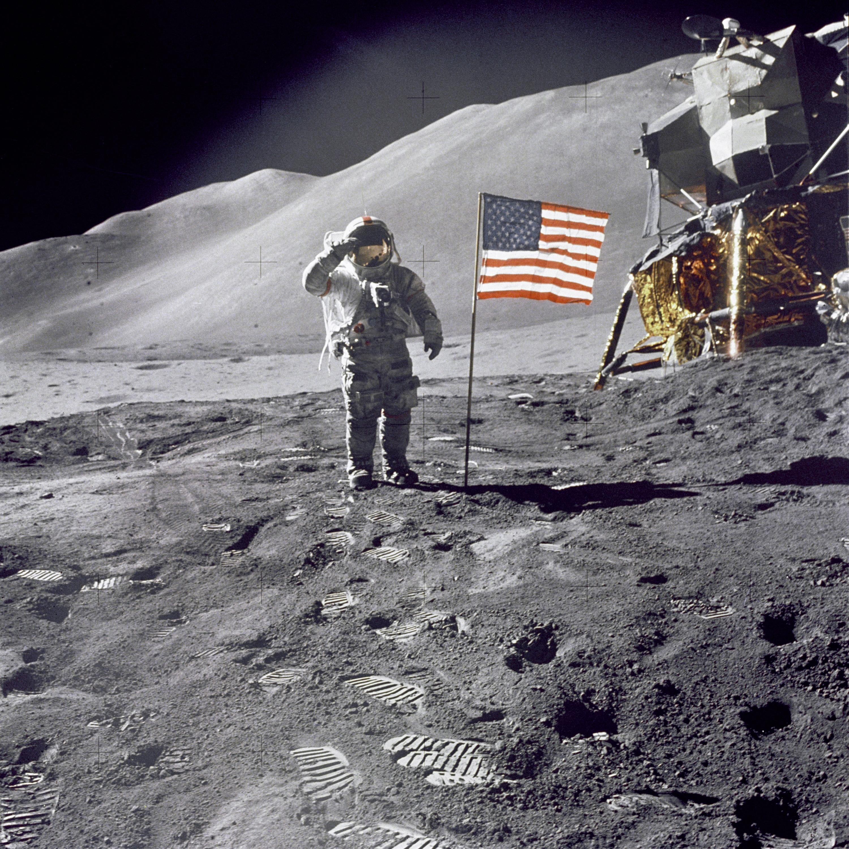 Nasa on the moon Apollo mission.jpeg