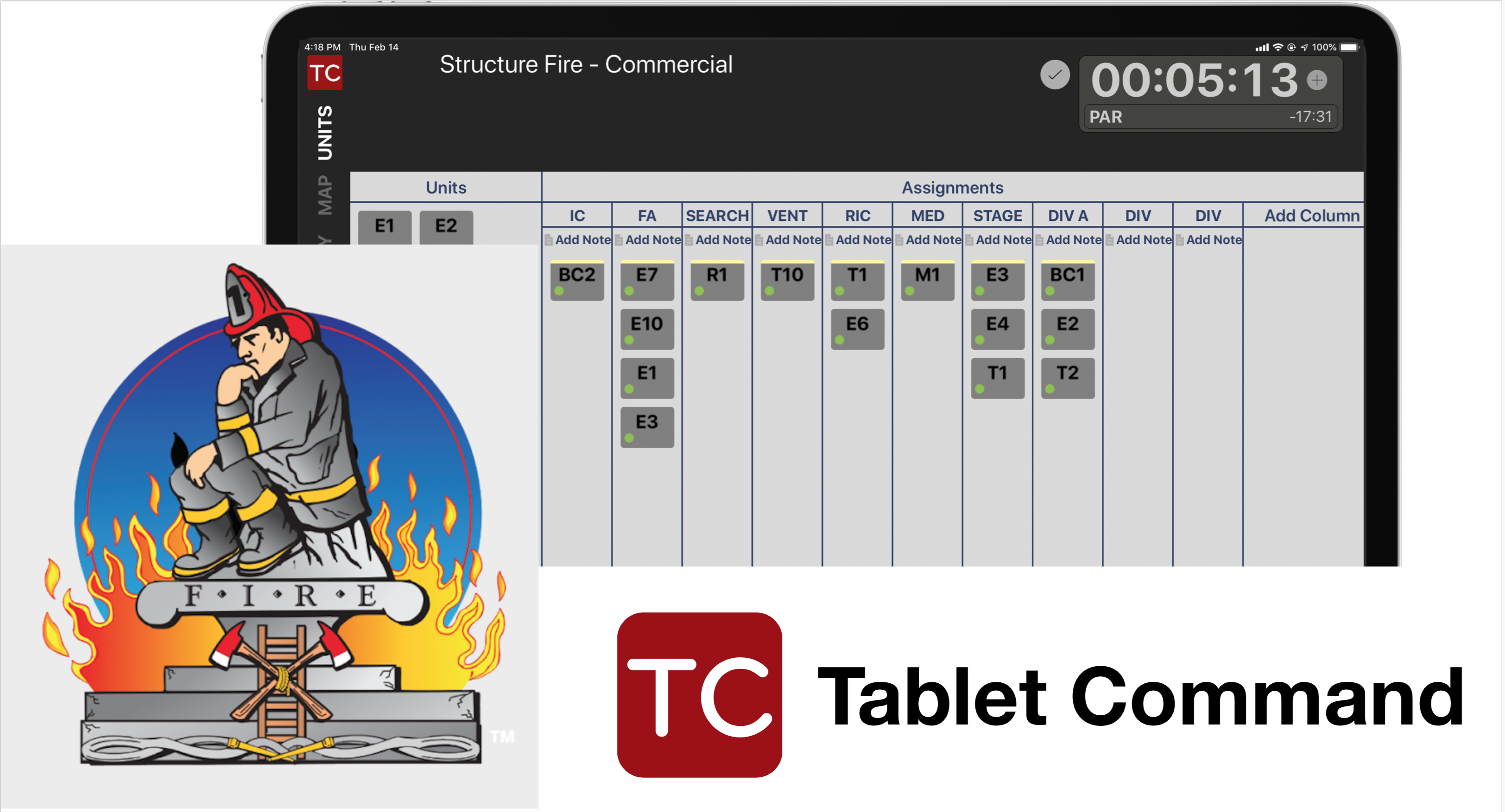 Tablet Command and Train Firefighters Partner